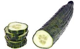 Volledig geïsoleerdeh komkommer - Royalty-vrije Stock Foto's