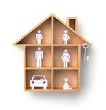 Volledig huis vector illustratie