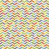 Volledig kleuren naadloos geometrisch patroon met zigzag Stock Foto