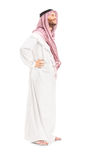 Volledig lengteportret van een mannelijke Arabische persoon status Royalty-vrije Stock Fotografie