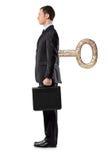 Volledig lengteportret van een mens met eindesleutel Royalty-vrije Stock Fotografie