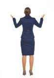 Volledig lengteportret van het bedrijfsvrouw bedelen Royalty-vrije Stock Afbeelding