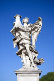 Volledig - mening van de engel met Kolom, Castel Sant Angelo, Rome, Italië Royalty-vrije Stock Foto