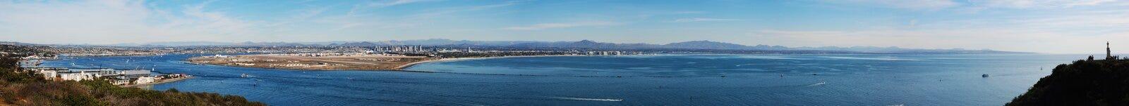 Volledig - mening van San Diego Stock Foto's