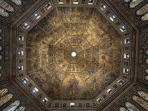 Volledig Plafondmozaïek in Baptistery in Florence Royalty-vrije Stock Afbeeldingen