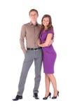 Volledig portret van de gelukkige aantrekkelijke paarmens en vrouw royalty-vrije stock foto's