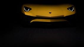 Volledig vooreind van Aventador SV Royalty-vrije Stock Afbeelding