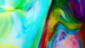 Volledige HD abstracte achtergrond Vloeibare inkt die gebarsten wervelingsvloeistof mengen stock footage
