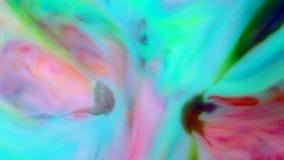 Volledige HD abstracte achtergrond Vloeibare inkt die gebarsten wervelingsvloeistof mengen stock videobeelden