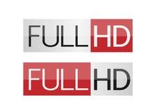 Volledige HD-etiketten Stock Fotografie