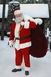 Volledige Kerstman buiten royalty-vrije stock foto