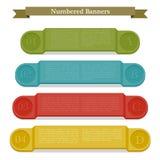 Volledige kleuren genummerd banners. Royalty-vrije Stock Fotografie