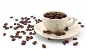 Volledige kop van koffieboon Royalty-vrije Stock Foto's