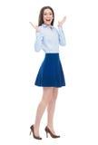 Volledige lengte van aantrekkelijke jonge vrouw Stock Fotografie
