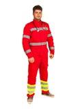 Volledige lengte van de paramedicusmens Stock Afbeelding