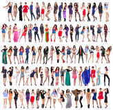 Volledige lengte van mooie jonge vrouwen royalty-vrije stock afbeeldingen