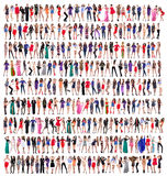 Volledige lengte van mooie jonge vrouwen Stock Afbeelding