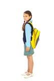 Volledige lengte van studentenmeisje Stock Afbeeldingen
