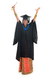Volledige lichaams gelukkige Indische universitaire student Royalty-vrije Stock Foto