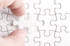 Volledige ontbrekende puzzel Stock Afbeeldingen