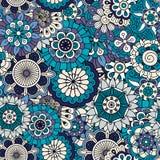 Volledige ontworpen achtergrond in diverse blauwe tonen stock illustratie