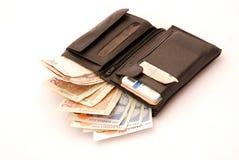 Volledige portefeuille stock fotografie