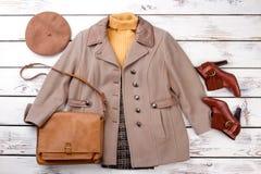 Volledige reeks van de herfstkleding Stock Foto
