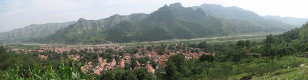 Volledige scène van mijn geboortestad. Royalty-vrije Stock Foto's