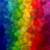 Volledige van de regenboogballen van het kleurenspectrum gestreepte het patroonachtergrond verticaal Stock Foto