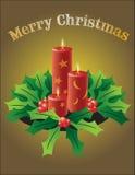 Volledige vector aardig kijkt de kaarsen van Kerstmis Vector Illustratie