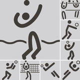 Volleiball icons Royalty Free Stock Images