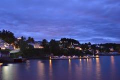 Vollen zatoka, Norwegia Zdjęcia Royalty Free