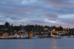 Vollen zatoka, Norwegia Fotografia Stock