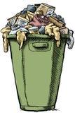 Voller Abfall lizenzfreie abbildung