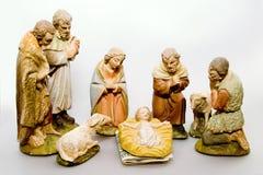 Voller Geburt Christi-Szenen-Geschäftsgeist lizenzfreie stockfotos