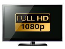Voller HD Fernsehapparat Lizenzfreie Stockfotos
