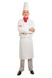 Voller Körperschuß des Chefkochs Stockbild