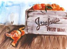 Voller Kasten von frischen Früchten, Naturkostkonzept Lizenzfreie Stockbilder
