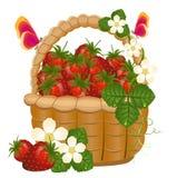 Voller Korb der reifen Erdbeeren Lizenzfreie Stockbilder