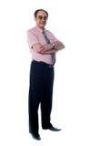 In voller Länge Ansicht des älteren Unternehmensleiters lizenzfreies stockfoto