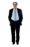 In voller Länge Ansicht eines Firmamanagers stockfoto