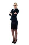 In voller Länge Ansicht welldessed Unternehmensfrau lizenzfreies stockfoto