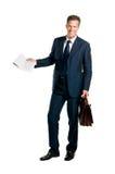 In voller Länge businesssman Stockfotos