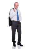 In voller Länge Portrait des fälligen Geschäftsmannes Lizenzfreies Stockfoto