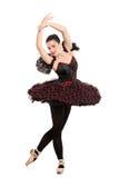 In voller Länge Portrait eines Ballerinatänzers Stockbilder