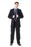 In voller Länge Portrait eines jungen Geschäftsmannes lizenzfreie stockfotos