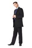 In voller Länge Portrait eines jungen Geschäftsmannes stockbild