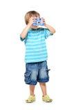 In voller Länge Portrait eines kleinen Jungen Lizenzfreie Stockfotografie