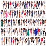 In voller Länge von schöne junge Frauen lizenzfreie stockbilder