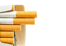 Voller Satz der Zigarettennahaufnahme Stockbilder